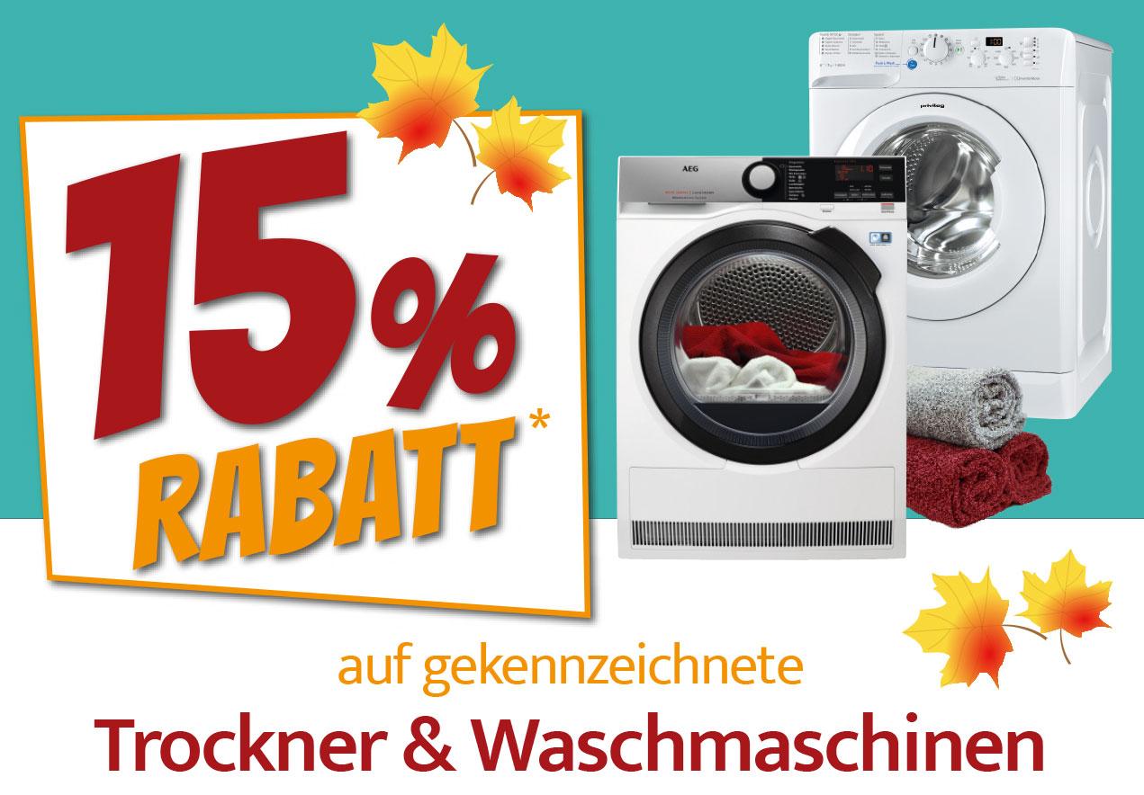 15% auf gekennzeichnete Waschmaschinen & Trockner nur in Mühldorf