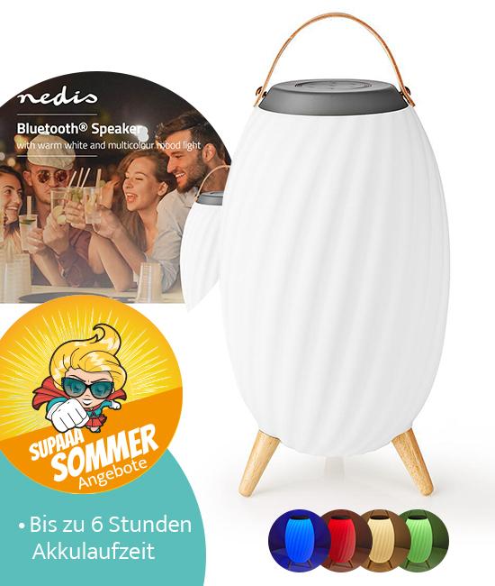 Nedis SPBT35805WT Bluetooth Lautsprecher Sommer-Angebot
